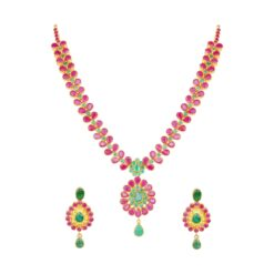 Ruby leaf necklace
