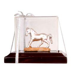Silver horse idol