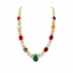 Navarathna Long Necklace