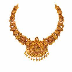 Antique Floret Peacock necklace
